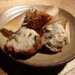 黒尊 - 山芋とずわい蟹、竹の子の揚げもの