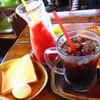 珈琲屋OB - 料理写真:モーニングセット、トマトジュース、アイスコーヒー