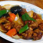 中華新楽 - 酢豚 1100円