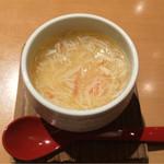 築地玉寿司 - 「海鮮ばらちらし」1580円のカニ茶碗蒸し