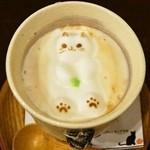押上猫庫 - ぷっくり猫ちゃんアートの3Dドリンク(550円)ソイオーレ