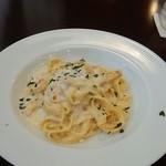 オステリア ラ フェニーチェ - サーモンクリーム タリアテーレ