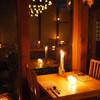 キャンドル卓 渡邉邸 - 内観写真:夜はキャンドルのあかりが映えます