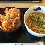 鐘庵 - かきあげ丼メッチャ美味いです。