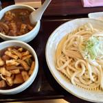 麦の蔵 - 肉汁うどん(並) 730円+ミニカレー丼180円