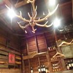 炉端美酒食堂 炉とマタギ - 鹿角シャンデリア
