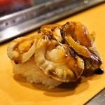 栄寿司 - 2015.3 煮ほたて(1貫110円)