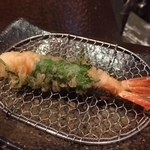 創作天ぷら いち - 天ぷらは1種類づつ揚げてもらえます