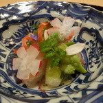 36256762 - ☆あちゃらは…季節のお野菜と雲丹を鯛で巻いてホタルイカも☆