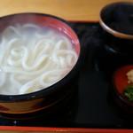 七里茶屋 - 【釜揚げうどん@600円】 塩の抜けがいまひとつ。。しょっぱい。