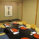 松風 - 今回は個室で食事させていただきました。