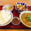 misatotakanoshokudou - 料理写真:ごはん、豚汁、鶏の煮付け、イトヨリのマリネ、イカの塩辛