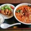 桃源花 - 料理写真:四川担々麺+唐揚げセット 1,080円