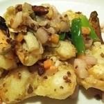 36347335 - 泡菜炒明蝦(殻付き海老と四川漬物炒め)