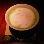 京BAR さかい - 抹茶のホットラテカクテル