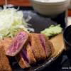 牛かつ もと村 - 料理写真:ダブル牛ロースかつ 麦飯セットとろろ付き【2015年3月】