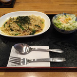 玉露園喫茶室 - 和風きのこスパゲッティ