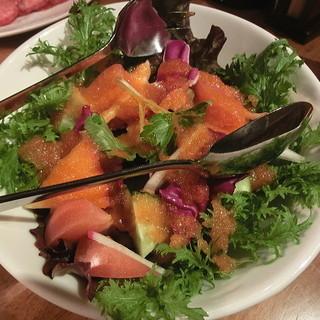 大山黒牛処 強小亭 - 料理写真:大山恵の野菜サラダ