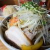 味の時計台 - 料理写真:野菜ラーメン+半チャーハン