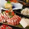 盛仁本家 - 料理写真:専用の醤油ダレで食べる『馬刺盛り合せ』