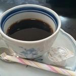 上乃家 - 食後にコーヒーがサービス