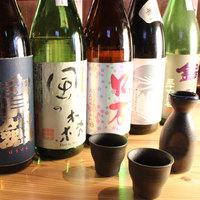 ≪日本酒≫30種類以上のこだわりの日本酒!