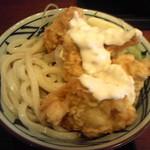 丸亀製麺 - タル鶏天ぶっかけ
