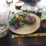琉宮 - 宮古牛のハンバーグランチ
