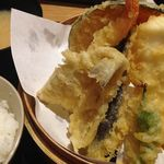 天ぷら海鮮 五福 - 海鮮天ぷら定食 2015.02.22