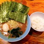 武蔵家 - 朝ラーメン(のり増量+味玉)