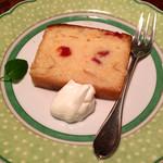 樹の花 - さくらんぼのレモンケーキ(春から夏。単品450円)