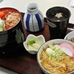 ひだか - 奥出雲そば処ひだか(食品会館)・ミニ玉子丼セット¥790(2015.01)
