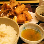 36480251 - 魚のアラ唐揚げ定食