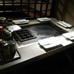 でくのぼう - 鉄板はタコ焼機つき
