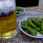 フィレンツェ - ビールにはお通しで枝豆