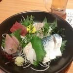 朝獲れ鮮魚 魚鮮水産 - 刺身5点盛り