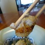 庄庵 - 蕎麦掻、熟成されたたまりをつけて