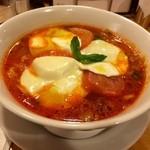 36549463 - モッツァレラトマトスープ麺!