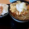 がんぎ - 料理写真:かき揚げそば470円+おにぎり110円