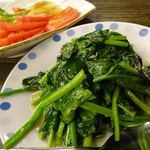 台湾料理 餃子の舞 - 料理写真:ほうれん草のニンニク炒め