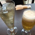 中華香彩JASMINE - ビールとジンジャーエール。 スパークリングもオススメです。