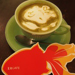 金魚CAFE - ショップのカードも金魚です*結構大きいです