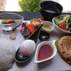 たまごカフェ - 料理写真:野菜たっぷり笹やか地鶏バーグ(\880)