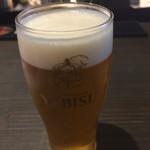 BARGANCHAN - 2014年3月。生ビールはエビス(500円)。