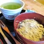 古民家カフェ&ダイニング 枇杏 - わらび餅と日本茶のセット
