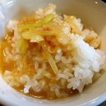 栄雅  - 残ったスープを投入