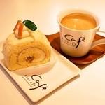 ビスキュイ - 2015.4 クリームチーズのロールケーキ、ブレンドコーヒー