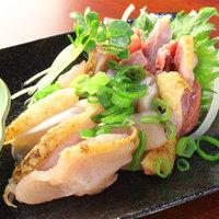 新鮮・絶品!鹿児島産地鶏のタタキ