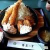 播磨の里 - 料理写真:カキフライと大エビフライの定食