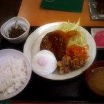 薩摩屋敷 - 昔ながらの洋食屋さん定食(950円)